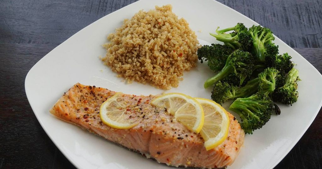 2 Week Diet Salmon Dinner